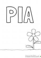 Pobarvanka imena PIA (2)