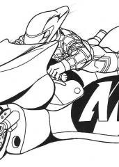 Action man na motorju