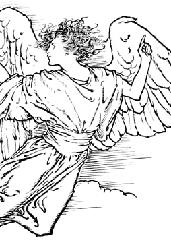 Pobarvanka angela