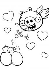 Angry Birds srčki