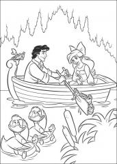 Mala morska deklica Ariel in princ
