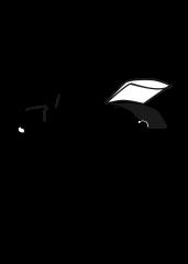 Pobarvanka avtomobila z odprtim prtljažnikom