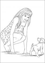 Pobarvanka Barbie in kužka