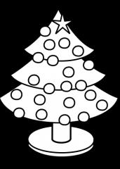 Pobarvanka božične smreke