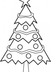 Pobarvanka božične smrekice
