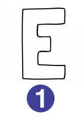 Črka E