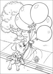 Dalmatinček z baloni