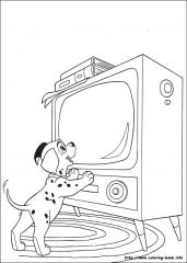Dalmatinec pred TV