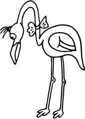 Pobarvanka flamenka