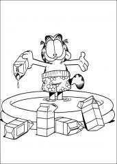 Garfield v mlečnem bazenu