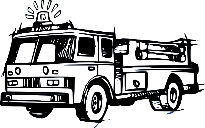 Pobarvanka gasilski avto