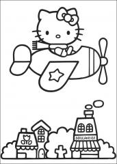 Hello Kitty v letalu