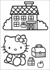 Hello Kitty pred hišo