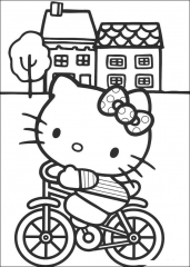 Hello Kitty na kolesu