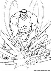 Pobarvanka Hulk