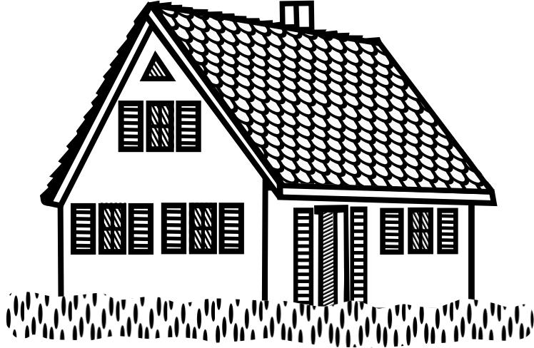 Pobarvanka kmečke hiše