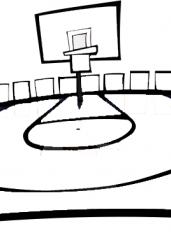 Pobarvanka košarkaškega igrišča