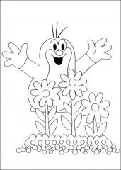 Krtek z rožicami