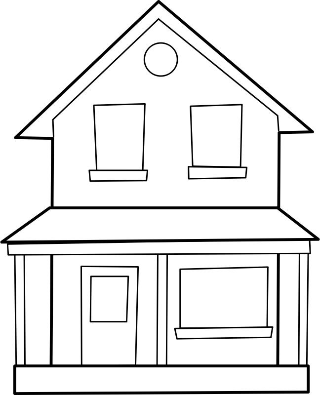 Pobarvanka lepe hiše