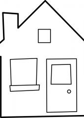 Pobarvanka lepe hiške