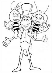 Pobarvanka Maje, Filipa in Vilija