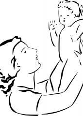 Mama z dojenčkom