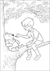 Medvedek Pu na drevesu