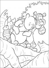 Pobarvanka medvedka Pu s prijatelji.