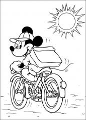Miki Miška na kolesu