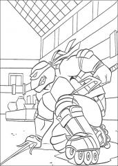 Ninja želva na rolerjih