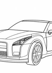 Pobarvanka Nissan GT R