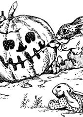 Noč čarovnic in zajčki z bučo
