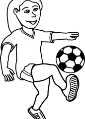 Pobarvanka nogometašica