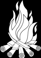Pobarvanka ogenj.