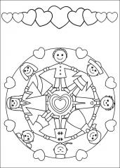 Otroška pobarvanka mandale