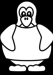 Pobarvanka pingvina z majico