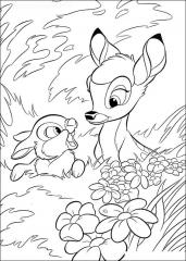 Pobarvanka Bambi in zajčka