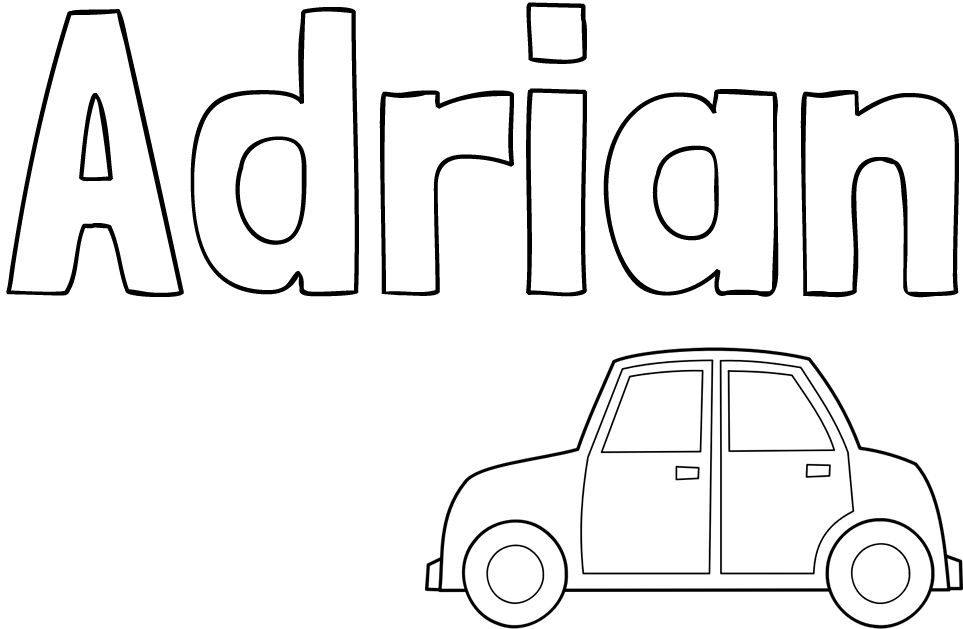 Pobarvanka imena Adrian