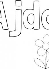 Pobarvanka imena Ajda
