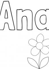 Pobarvanka imena Ana