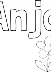 Pobarvanka imena Anja