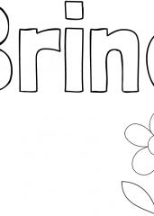 Pobarvanka imena Brina