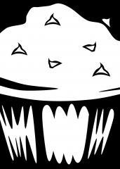 Pobarvanka čokoladni mufin
