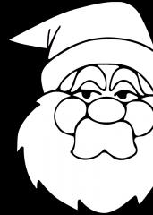 Pobarvanka dedek Mraz