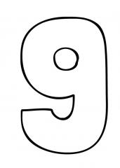 Pobarvanka števila devet