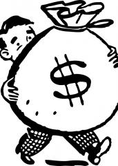 Pobarvanka dolarji