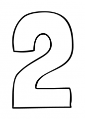Pobarvanka števila dva