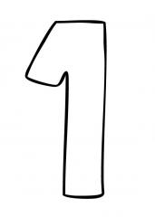 Pobarvanka števila ena