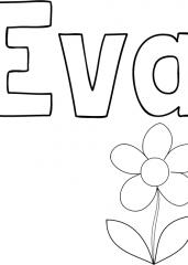 Pobarvanka imena Eva