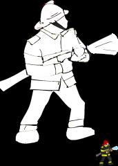 Pobarvanka gasilca